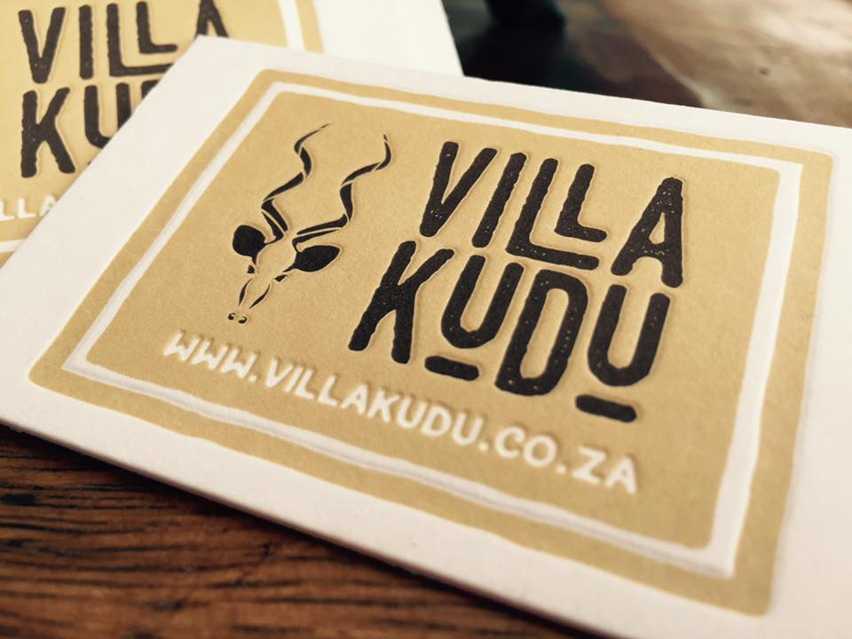 Villa Kudu letterpress business cards