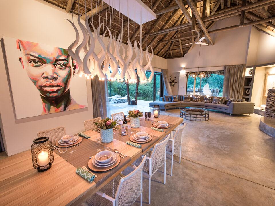 Villa Kudu Dining & Living Room