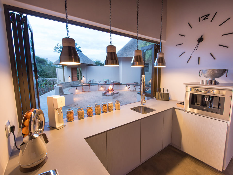 Villa Kudu Kitchen with Boma at backside