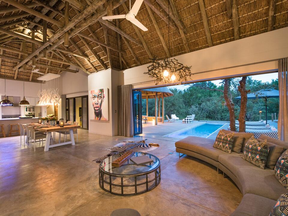 Villa Kudu Main living area