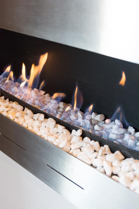 Villa Kudu Master Bedroom gas fireplace