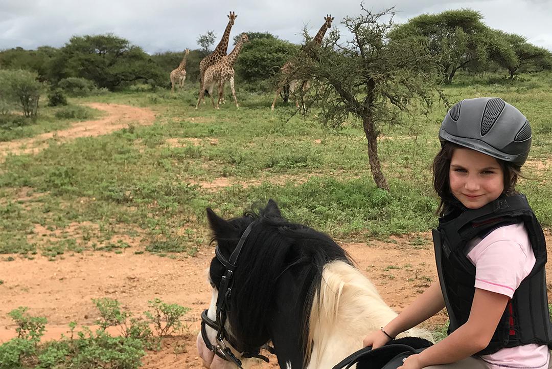 Horse riding at VIlla Kudu