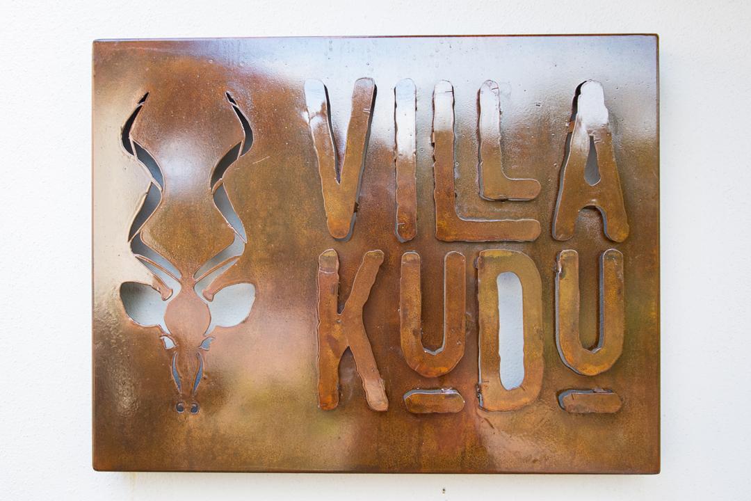 Villa Kudu cutout sign